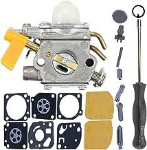 Milttor C1U-H60 308054013 Carburetor Rebuild Kit Screwdriver Fit 26cc 30cc Ryobi S430 Carburetor SS26 SS30 CS26 BC30 308054004 308054008 308054012 985624001 Brushcutter Trimmer