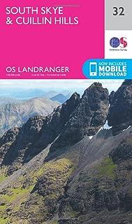ORDNANCE SURVEY Landranger 32 South Skye & Cuillin Hills Map with Digital Version