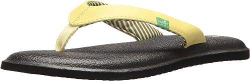 Sanuk Wohommes Yoga Chakra Flip-Flop, jaune pear, 05 M US