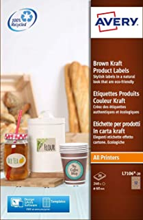 Avery 392348 - Etiquetas para productos, marrón
