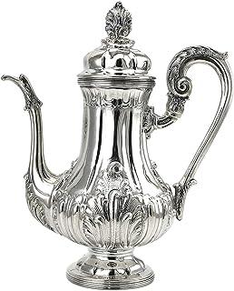 POB B – Cafetera de plata 800 cincelada a mano 1277 g – H 28 cm Cód. 288