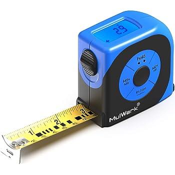2-in-1 LCD Digital Display tape measure, Infrared Distance Meters, 98ft 30m //16ft 5m Infrared measure tape(black
