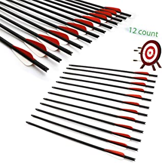 JY-Sports Crossbow Bolts Outdoor Shooting Arrows 20''Archery Hunting Arrow Replaceable Tips 12Pcs/Box