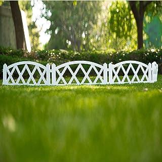 Worth Garden Valla de plástico blanco, 4 unidades