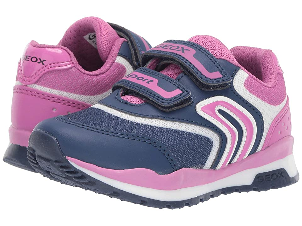Geox Kids Pavel Girl 3 (Toddler) (Navy/Fuchsia) Girl