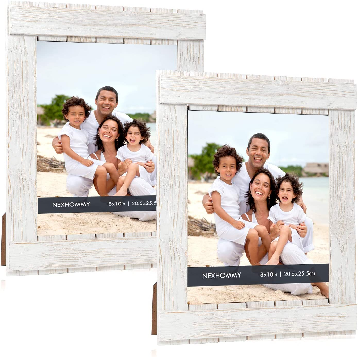 Distressed National uniform free shipping White Picture Frames 8x10 Fin Challenge the lowest price of Japan ☆ Solid - Wood