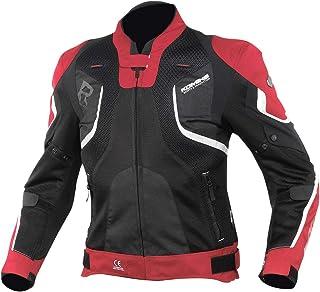 コミネ(KOMINE) バイク用 Rスペックメッシュジャケット レッド/ブラック L JK-143 12952 メッシュ素材 プロテクター CE規格