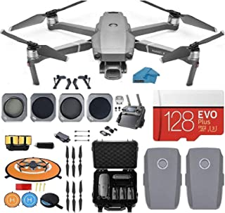 DJI Mavic 2 Pro Drone Quadcopter, with 2 Batteries, Waterproof Hard Case, and ND, Cpl Lens Filters, 128GB SD Card with Has...