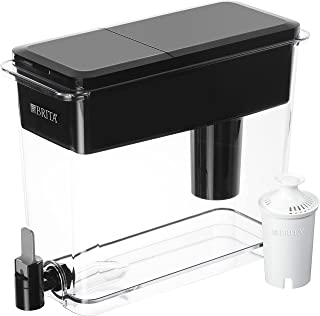 Brita Extra Large 18 Cup Filtered Water Dispenser with 1 Standard Filter, Made without BPA, UltraMax, Black