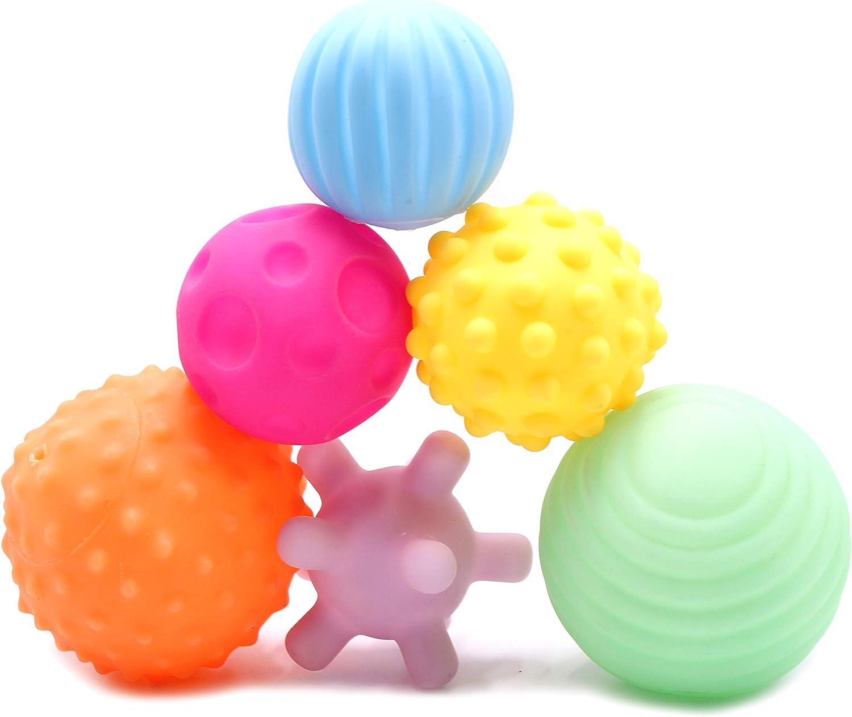 FIVOENDAR 6 Pack Sensory Balls Massage Soft for Kids Be super Charlotte Mall welcome Textured