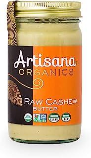 Artisana Organics Non GMO Raw Cashew Butter, 14 oz | No Sugar Added | Paleo and Whole30 Compliant