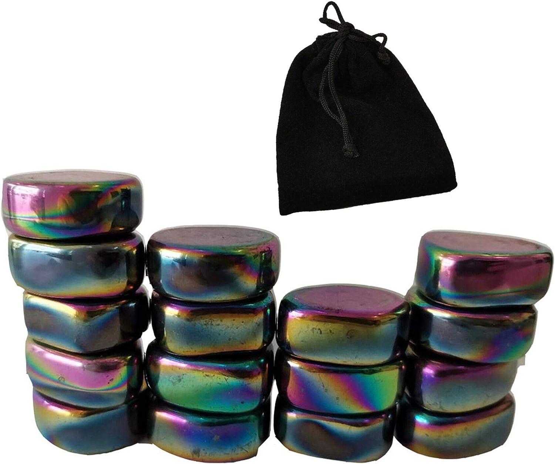 16Pcs Set Fort Worth Mall Magnets Rainbow Magnetic Stones Polished Gorgeous Irr Hematite