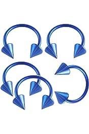 bodyjewellery 14g 14 Gauge 5//8 Inch 16mm Surgical Steel Tongue bar Ear Nipple Barbell Rings sili Ball Purple lot AIHQ Piercing 2Pcs