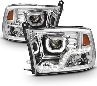 ACANII - For [Mono-Eye] 2009-2018 Dodge Ram 1500 2500 3500 LED DRL Halo Projector Headlights Driver + Passenger Side