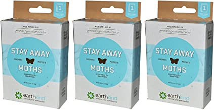 Earthkind Stay Away Moths Pack of 3