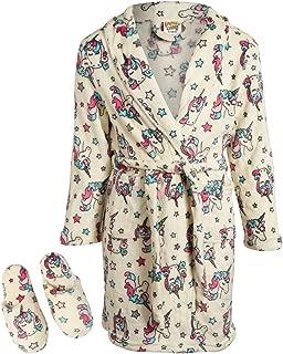 Sweet & Sassy Girls' Coral Fleece Plush Robe & Slipper Set