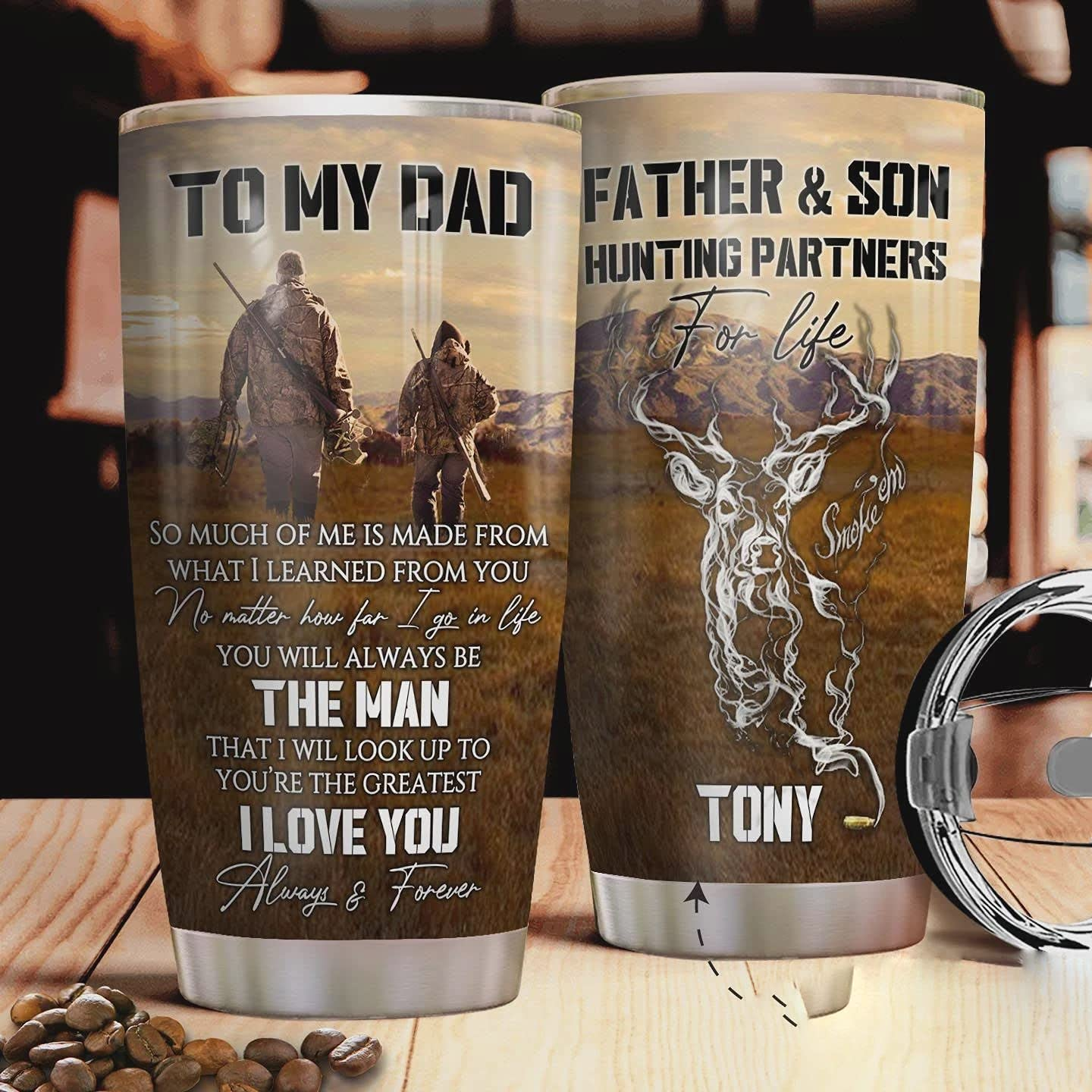 Personalized Father And Son Hunting Partners To Award Cup D My Tumbler Max 78% OFF