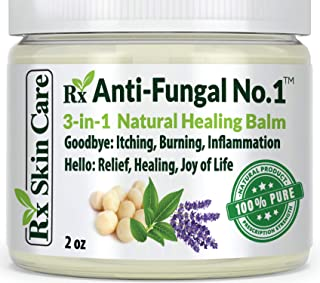 Antifungal Cream – Toenail Fungus Treatment Jock Itch Athletes Foot Ringworm Back Acne & Eczema Extra Strength – Lotion fo...