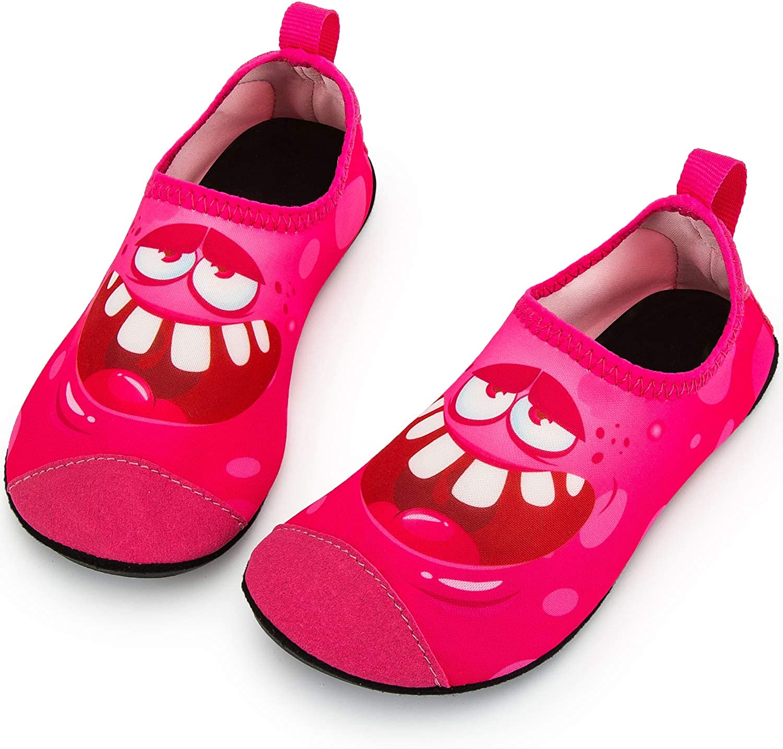 Crova Kids Water Shoes Pool Quick Dry Aqua Socks Non-Slip Barefoot Yoga Shoes for Boys Girls Toddler