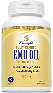 Emu Gold Fully Refined Oil Softgels, 90 Count