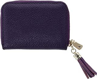 CTM Women's Leather Zip-Around Card Case Wallet