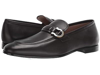 Salvatore Ferragamo Tweed Loafer (Black) Men