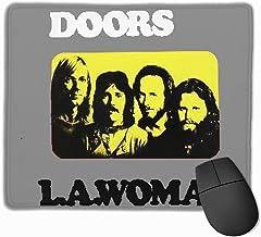 Iuqyzqzaza The Doors L.A. Woman Band Mouse Pad Paris Picture Laptop Pad Non-Slip Rubber Stitched Edges 11.8 X 9.8 Inch
