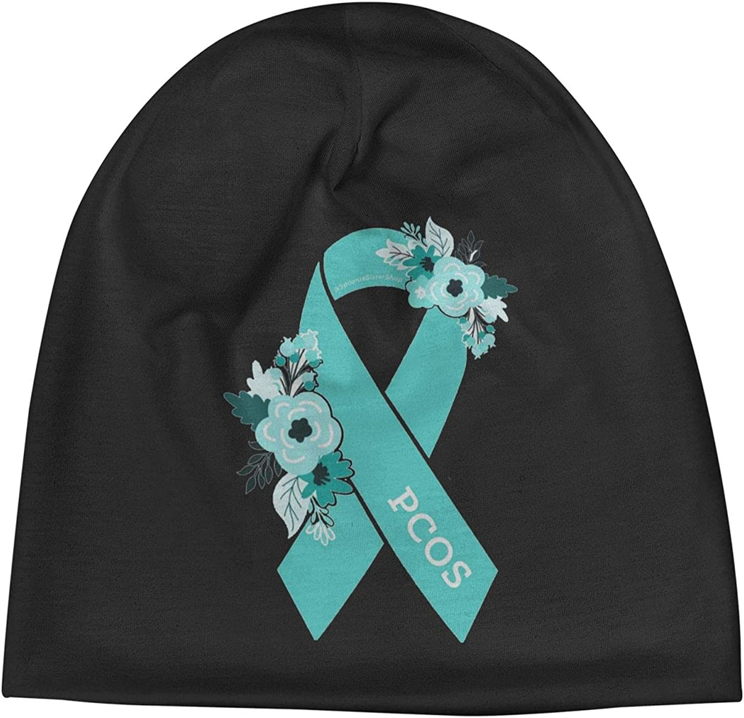 PCOS Awareness1 Slogan Unisex Beanie Vintage Cap Recommended Warm Hats Online limited product Knit