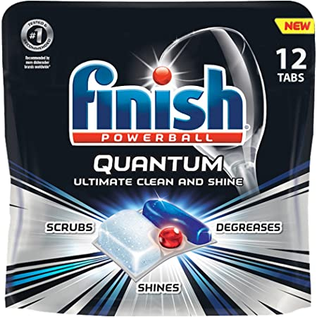 Finish Quantum Max Powerball, 96ct, Dishwasher Detergent Tablets, Ultimate Clean & Shine (8X12ct)