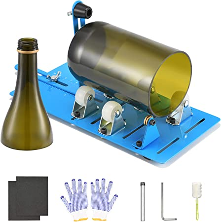 Glasflaschenschneider Rund Edelstahl Flaschenschneider Glas Schneiden Pateacd Glasschneider f/ür Flaschen Eckig Set DIY Tool,Normal