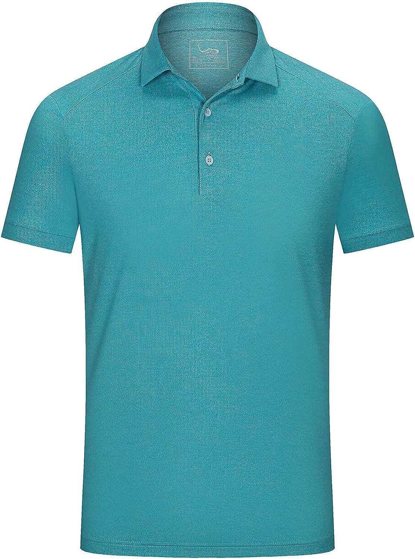 EAGEGOF Slim Fit Men's Performance Stretch Polo Sale Golf Tech Shirt shopping