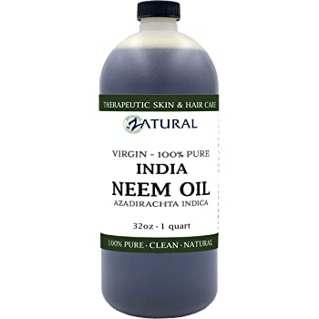 Organic Neem Oil (32 oz) 100% Pure Cold Press Skin, Hair, and Nails