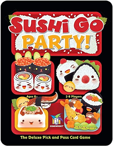 Sushi Go Party! - The Deluxe Pick & Pass Card Game by Gamewright, Multicolored
