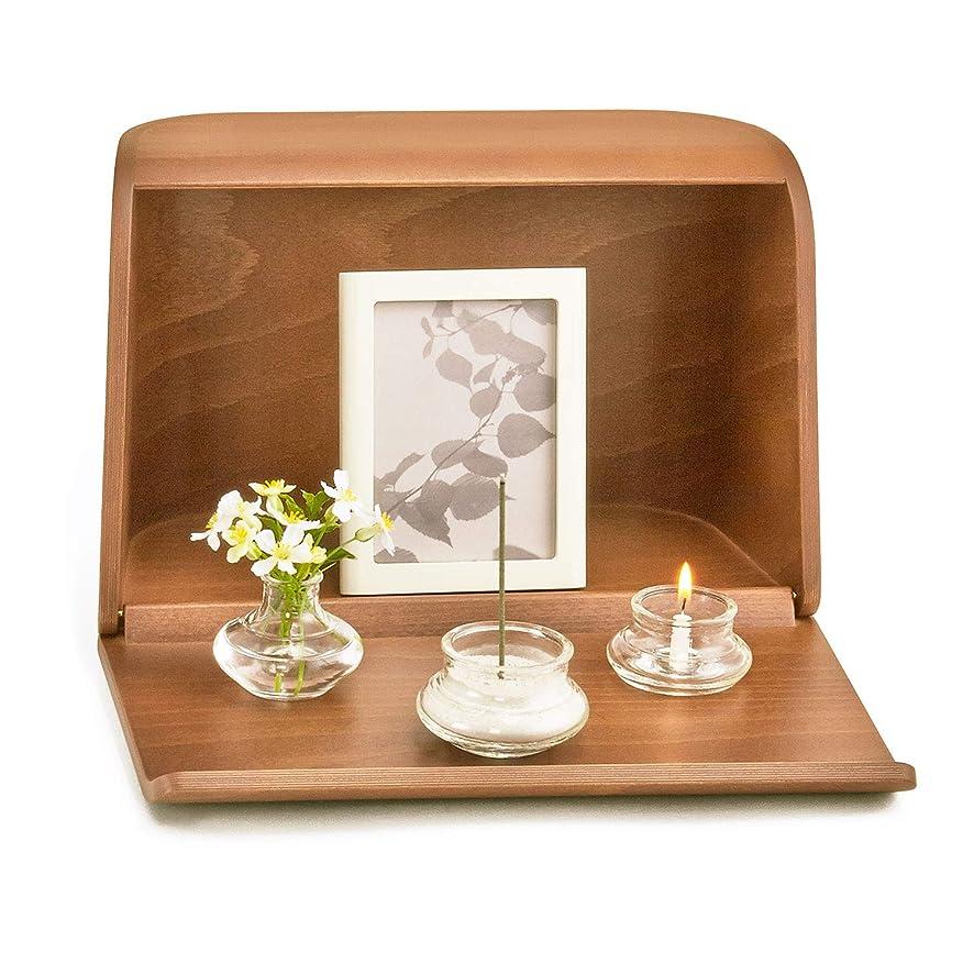 十二マイナスそこから日本香堂 やさしい時間 祈りの手箱 ブラウン (仏壇 仏具 お線香)