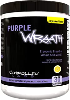 Purple Wraath by Controlled Labs, BCAA and EAA Amino Acid Supplement, with Endurance Blend Intra Workout Powder, Optimal E...