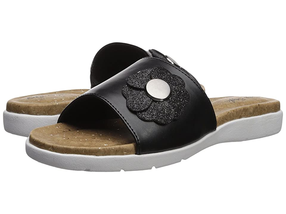 Soft Style Laurie (Black Vitello) Women's Sandals