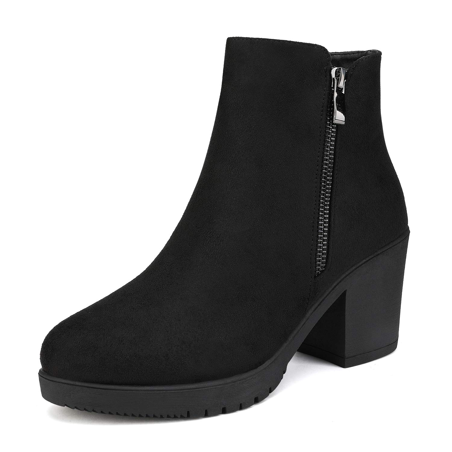 DREAM PAIRS Womens Platform Booties