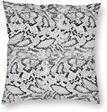 Snake Skin Texture Cotton Home Decorative Throw Pillow Case Cushion Cover for Sofa Couch 18X18 Inch