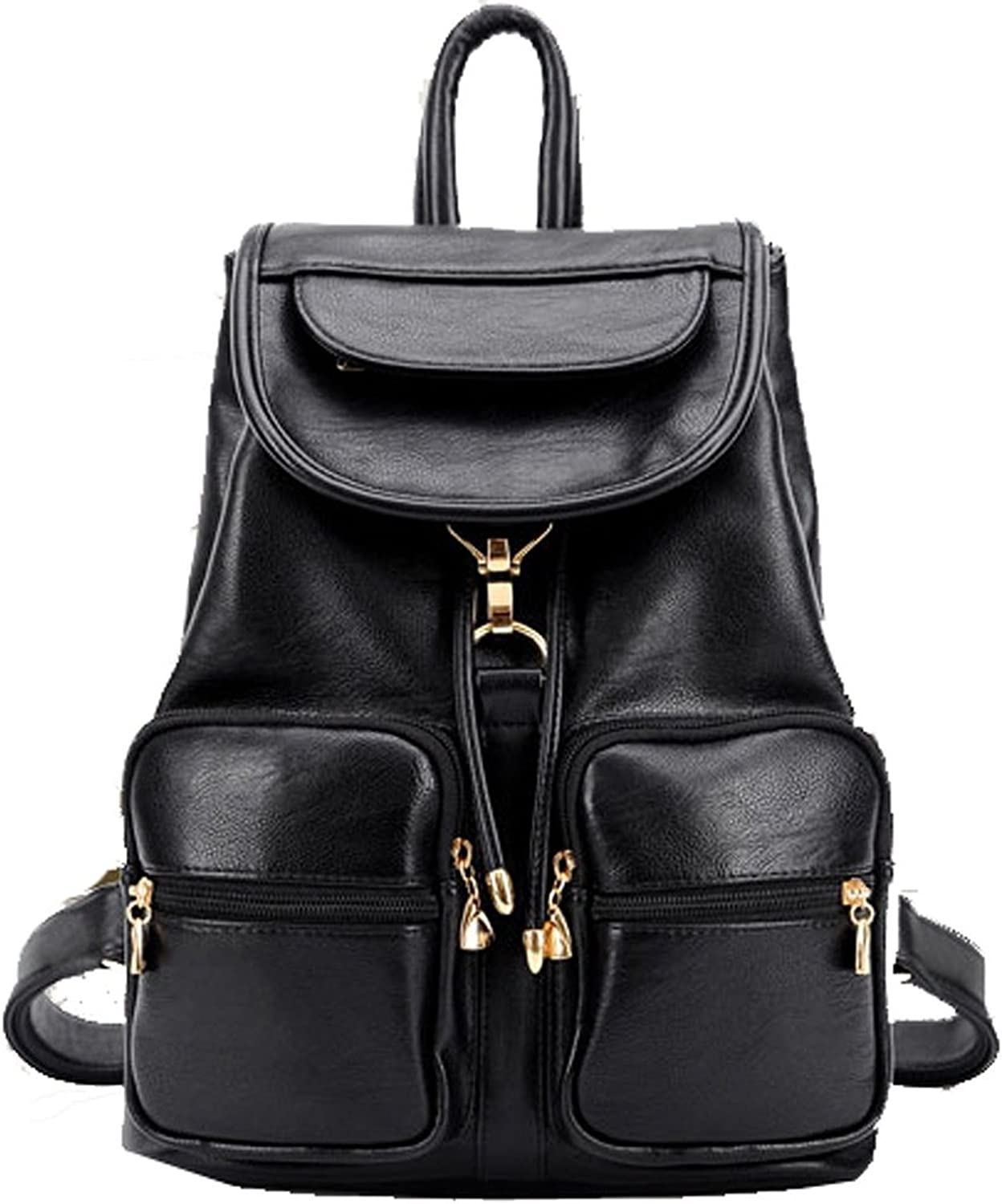 PU Leather Casual Backpack Very Good Taste The Way Of The Girl with many Pockets