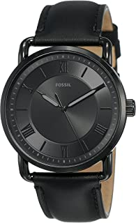 Men's Copeland Stainless Steel Quartz Watch with Leather...