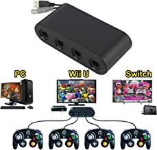 Wii U Gamecube Console Adapter, Sidith Gamecube NGC Console Adapter for Wii U,Nintendo Swith and PC USB(Easy to Plug and N...