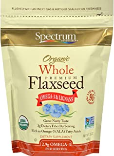 Spectrum Organic Whole Flaxseed, 15 Oz Bag