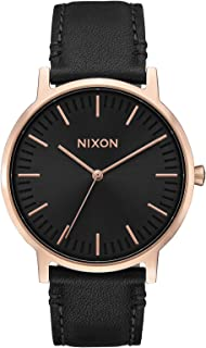 Nixon Porter Leather A1058. 100m Water Resistant Men's Watch (20-18mm Leather Band and 40mm Watch Face)