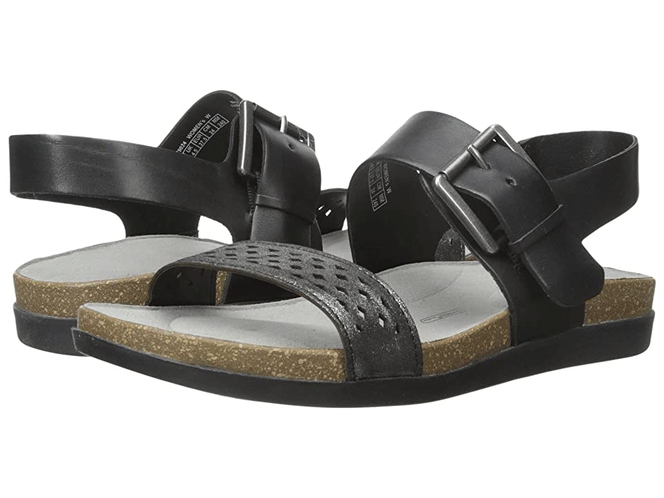 Rockport Total Motion Romilly Buckled Sandal (Black Smooth) Women