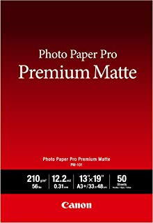 CanonInk Photo Paper, Pro Premium, Matte 13x19 (50 Sheets) (8657B010)