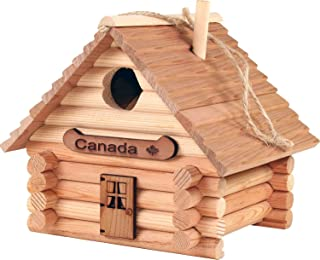 TheLogCabinToys Canadian Made Birdhouse Log Kit - 41 Pieces