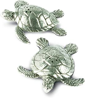 Vagabond House Pewter Sea Turtles Salt & Pepper Shaker Set 3.5