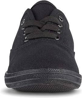أحذية التنس Twisted للنساء | أحذية رياضية منخفضة الارتفاع برباط لأعلى، طراز Plimsoll كلاسيكي كاجوال