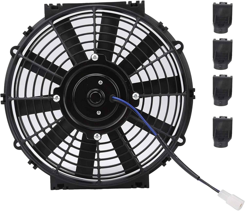Ventilador de Refrigeración del Radiador Eléctrico, Universal Portátil Ventiladores de Motor de Repuesto para AutomóViles, Enfriador Eléctrico de Vaivén Pequeño 24V 80W 2100Rpm para Coche, Camión
