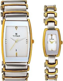 Titan Bandhan Analog Multicolor Dial Couple Watch -NL13772385BM01 / NL13772385BM01